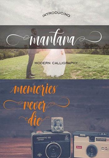 Mantana-Script-Font