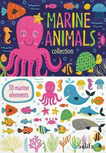 Marine-animals-set