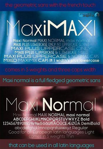 Maxi-fonts