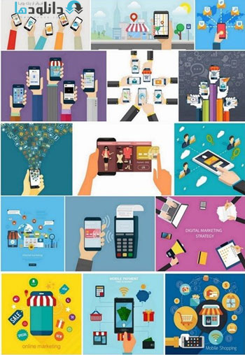 Mobile-Marketing-For-App-Design-Vector