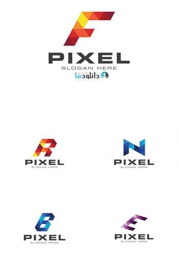 Modern-Pixelated-Logo-Templ