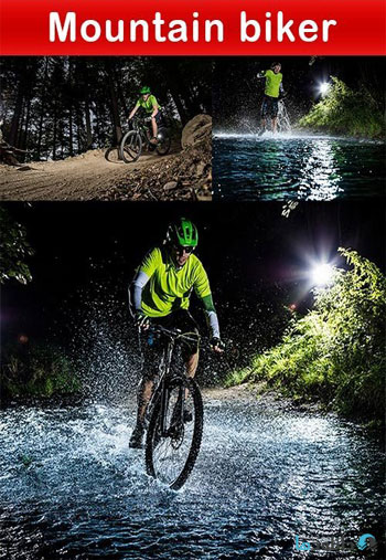 استوک-Mountain-biker