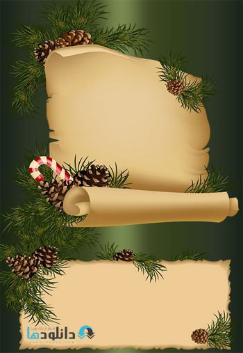 New-year's-scrolls-PSD-Clipart