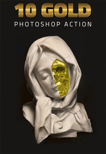 Gold Effect Painting Photoshop Action