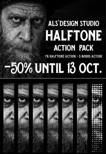 AL s Halftone Action Pack