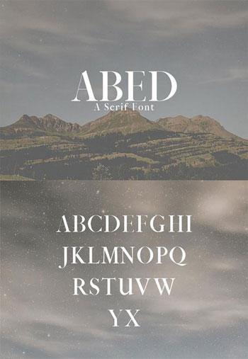 Abed-Serif-Font
