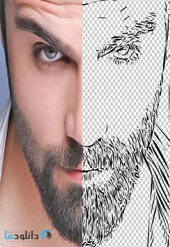 Advanced Line Art Photoshop Action