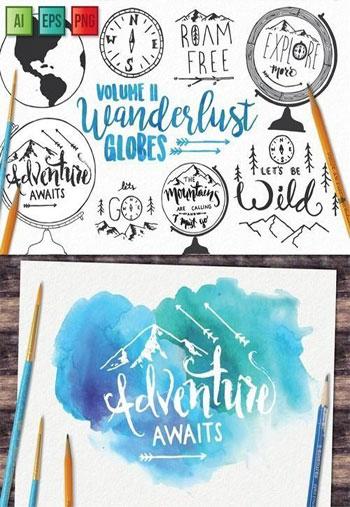 Adventure-Globe-Vector-Pack