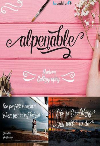 Alpenable Font