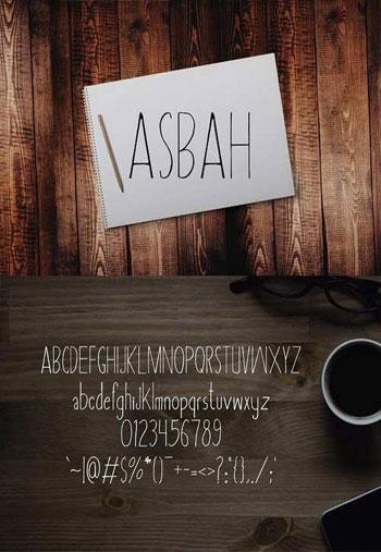 Asbah-Serif-Font
