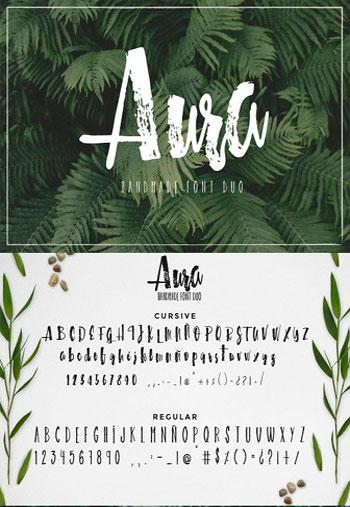Aura-font-duo-Font-Script