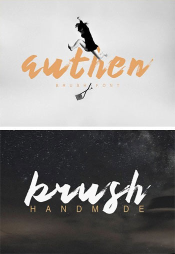 Authen-Brush-Font