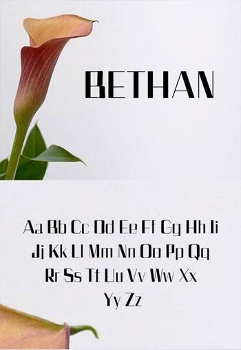 Bethan-Sans-Serif-Font