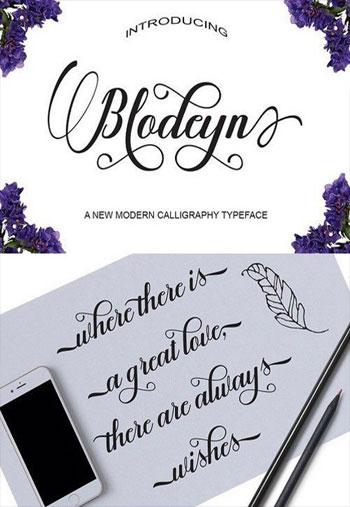 Blodeyn-Script-Font