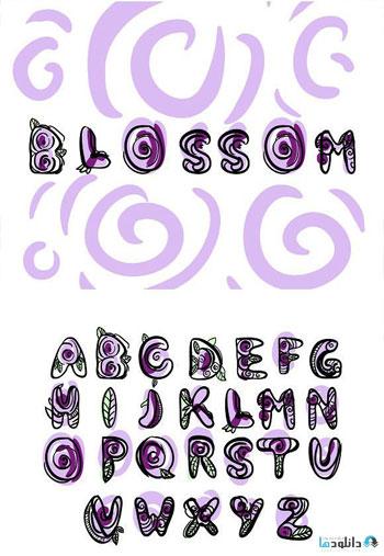 Blossom-font