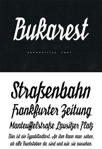 Bukarest-Handwriting-Font