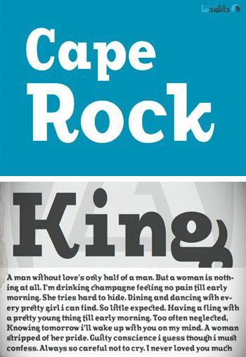 CA-Cape-Rock-Font