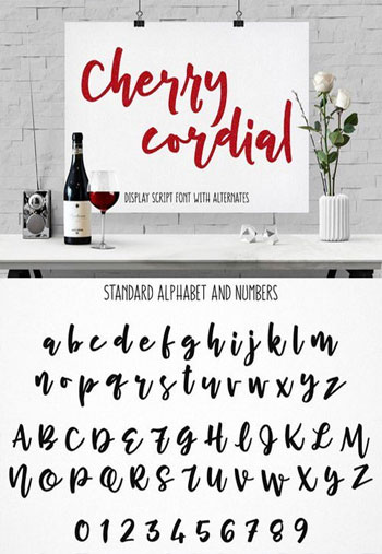 Cherry-Cordial-Font