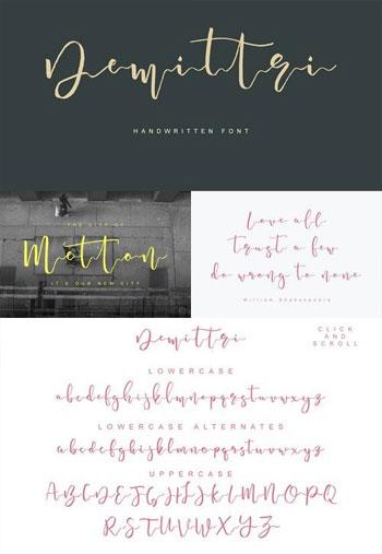 Fontbundles---Demittri