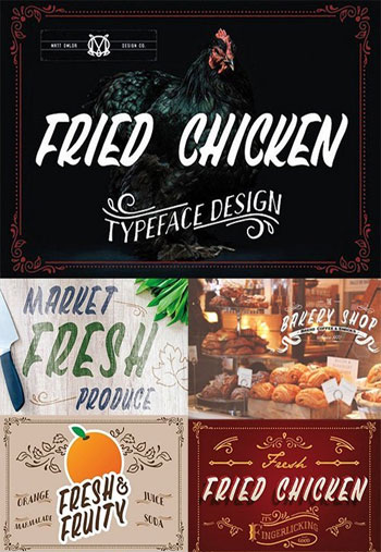Fried-Chicken-Typeface
