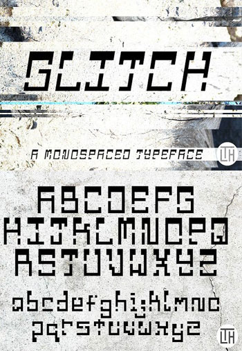 Glitch-Fonts-Display