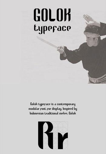 Golok-Typeface