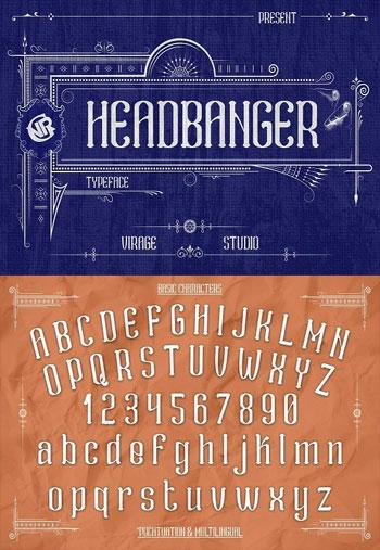 Headbanger-Font