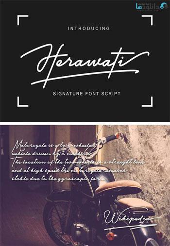 Herawati-Signature-Font