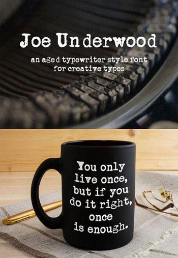 Joe-Underwood-Typewriter-Font