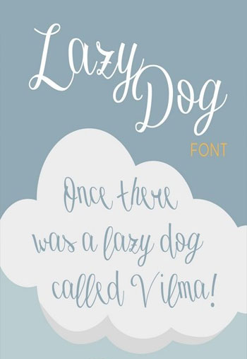 Lazy-Dog-Font