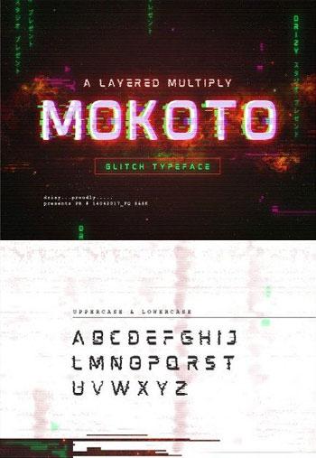 Mokoto-Glitch-Typeface