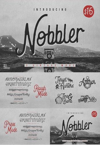 Nobbler-Typeface