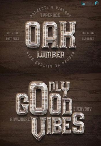 Oak-Lumber-Font