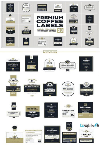 Premium-Coffee-Labels
