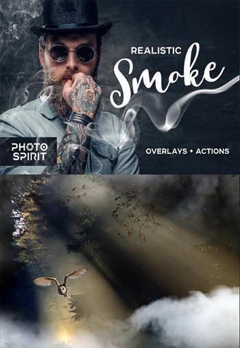 Realistic Smoke Overlays Photoshop Action