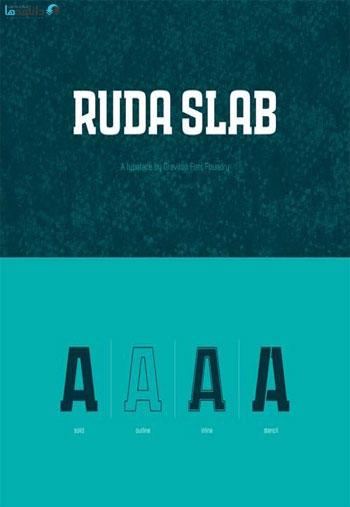 Ruda-Slab-Font