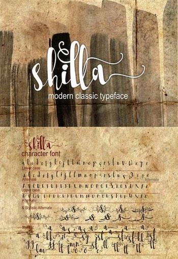 SHILLA-Script-Font