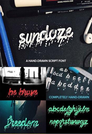 SUNDAZE-Script-Font