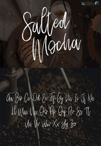 Salted-Mocha-Brush-Font