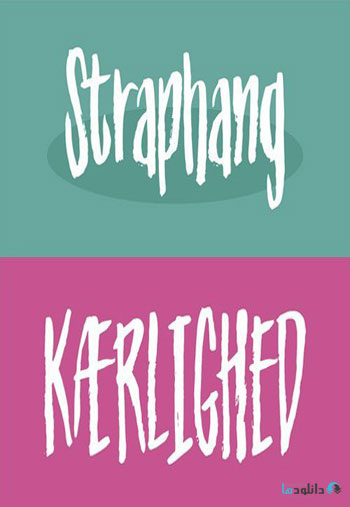 Straphang-font