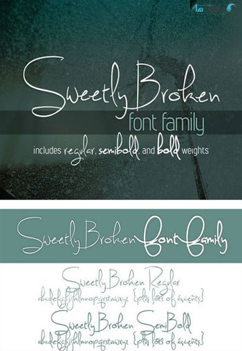 Sweetly-Broken-Font
