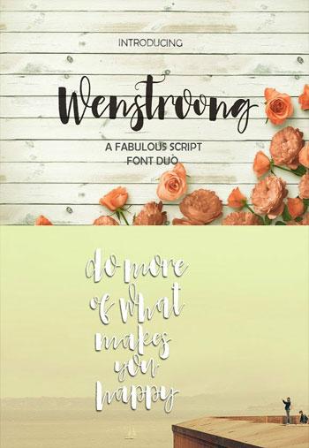 Wenstroong-Font-Script