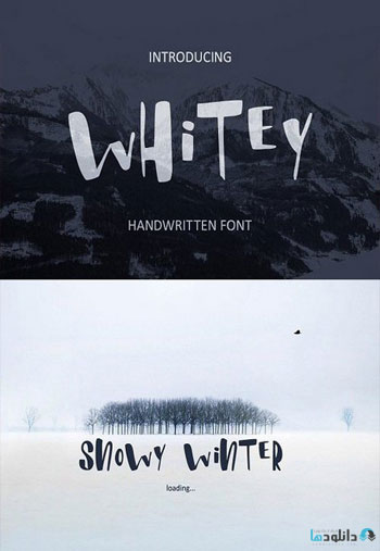 Whitey Handwritten brush Font