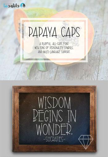 Papaya-Caps-Font
