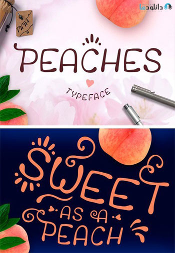 Peaches-Font