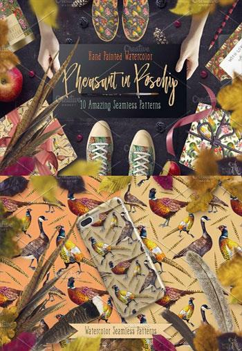 Pheasant-in-Rosehip-Pattern