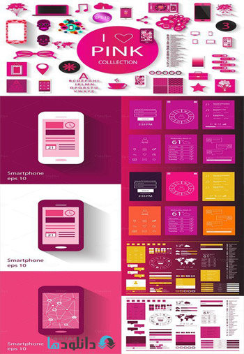 Pink-collection-117-vectors-set
