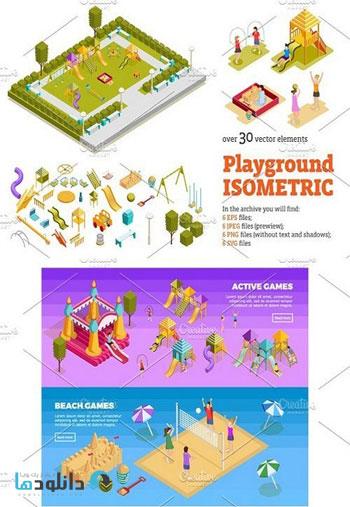 Playground-Isometric-Set