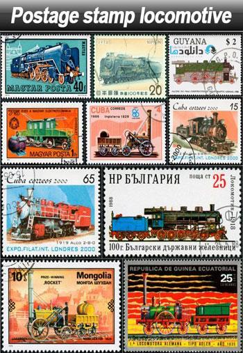 Postage-stamp-locomotive