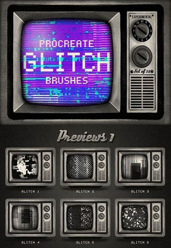 Procreate-Glitch-brushe